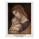 Maria With The Sleeping Child By Andrea Mantegna Posters