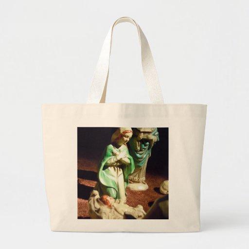Maria y bebé Jesús Bolsa De Tela Grande