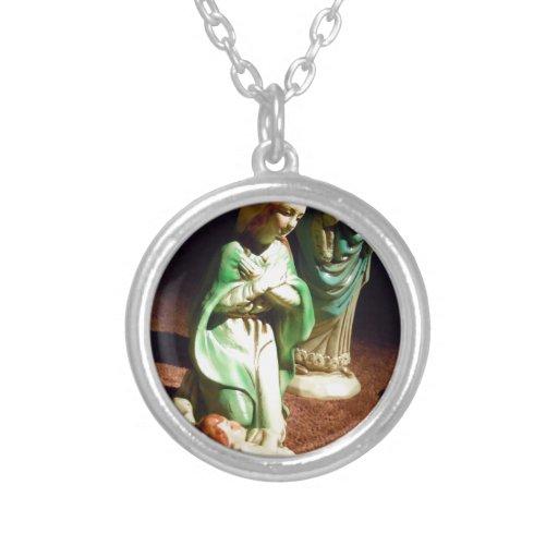 Maria y bebé Jesús Collar Personalizado