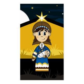 Maria y bebé Jesús por la señal de la natividad Tarjetas De Visita