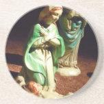 Maria y bebé Jesús Posavasos Personalizados