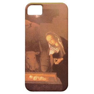 Maria y el niño Jesús en el pesebre iPhone 5 Case-Mate Coberturas