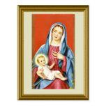 Maria y el niño Jesús Postal