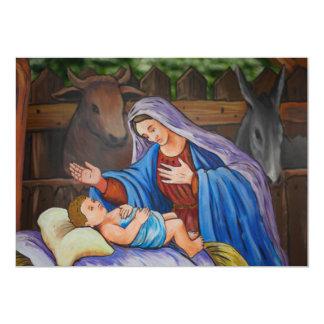 """Maria y Jesús Invitación 5"""" X 7"""""""