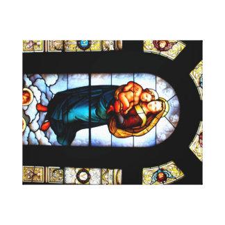 Maria y Jesús Impresión De Lienzo