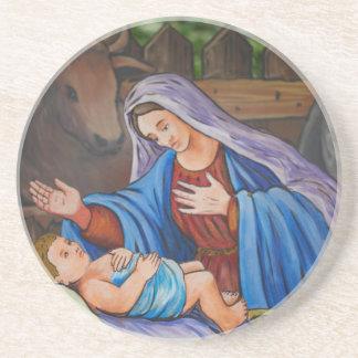 Maria y Jesús Posavasos Cerveza