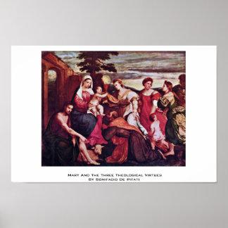 Maria y las tres virtudes teológicas posters
