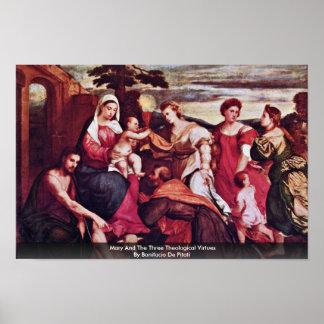 Maria y las tres virtudes teológicas poster