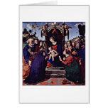 Maria y los ángeles del niño de Piero Di Lorenzo Tarjeton