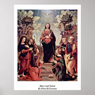 Maria y santos de Piero Di Lorenzo Poster