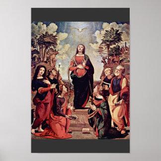 Maria y santos: St. Jo del St. Catherine St Margar Poster