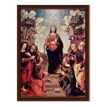 Maria y santos: St. Jo del St. Catherine St Margar Tarjeta Postal