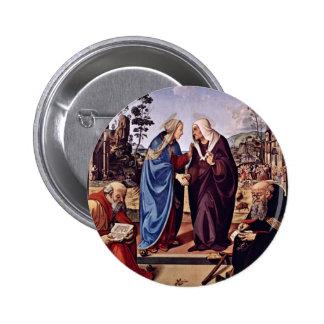 Maria y St. Elizabeth San Nicolás y St. Anthon Pin Redondo 5 Cm
