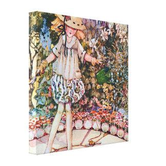 Maria y su poesía infantil del jardín impresión en lienzo