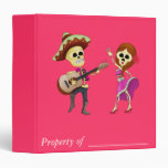 Mariachi Dancing Couple Day of the Dead 3 Ring Binder