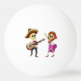 Mariachi Dancing Couple Day of the Dead Ping Pong Ball