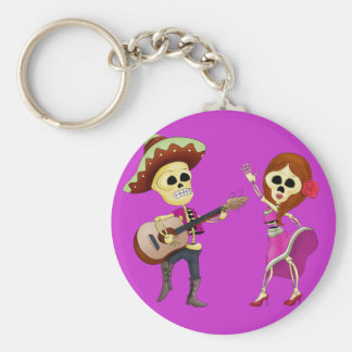 Mariachi Dancing Couple Day of the Dead Key Chain