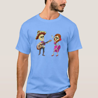 Mariachi Dancing Couple Day of the Dead T-Shirt