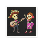 Mariachi Dancing Couple Day of the Dead Paper Napkins