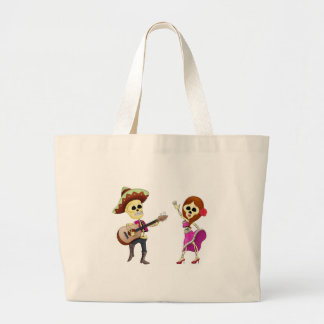 Mariachi Dancing Day of the Dead Couple Canvas Bags