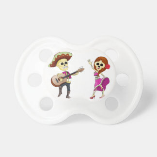Mariachi Dancing Day of the Dead Couple Baby Pacifier