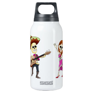 Mariachi Dancing Day of the Dead Couple SIGG Thermo 0.3L Insulated Bottle