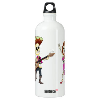 Mariachi Dancing Day of the Dead Couple SIGG Traveler 1.0L Water Bottle