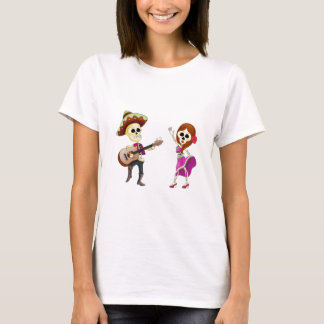 Mariachi Dancing Day of the Dead Couple T-Shirt