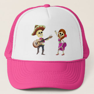 Mariachi Dancing Day of the Dead Couple Trucker Hat