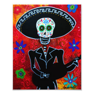 Mariachi Day of the Dead Painting Photo Print