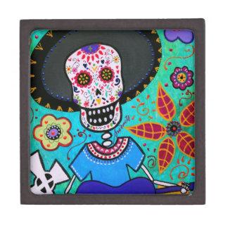 Mariachi de Dia de los Muertos Señor Caja De Joyas De Calidad