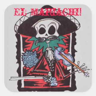 ¡Mariachi del EL! Pegatina Cuadrada
