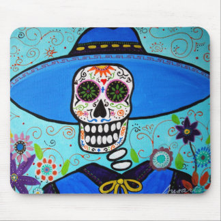 mariachi dia de los muertos mouse pad