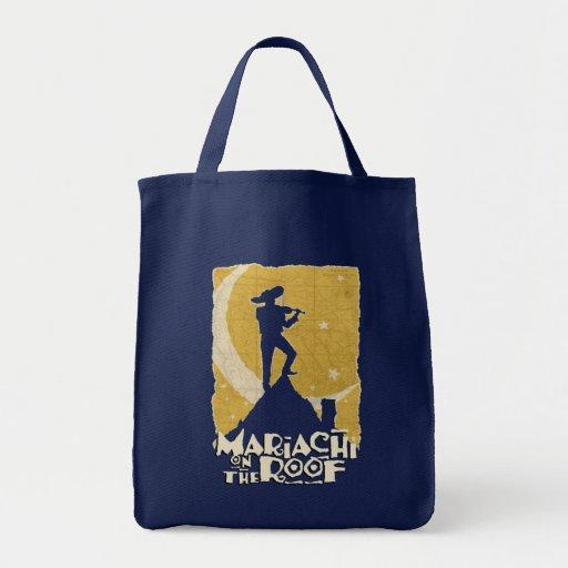 Mariachi en el tejado bolsa lienzo