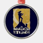 Mariachi en el tejado ornamentos para reyes magos