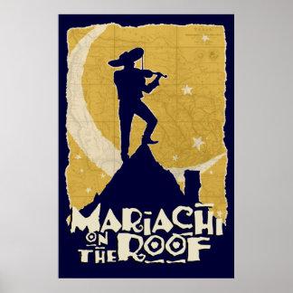 Mariachi en el tejado poster