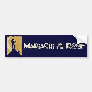 Mariachi en el tejado pegatina para auto