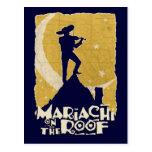 Mariachi en el tejado postal