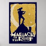 Mariachi en el tejado póster