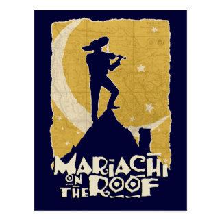 Mariachi en el tejado tarjetas postales