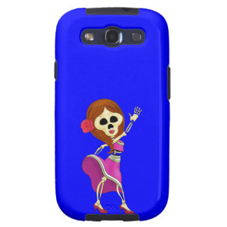 Mariachi Female Sugar Skull Samsung Galaxy SIII Cases