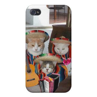 Mariachi Kitties/Gatitos de Mariachi Cases For iPhone 4