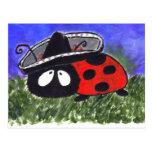 Mariachi Ladybug Postcard