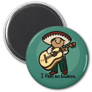 mariachi magnet. 2 inch round magnet