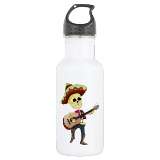 Mariachi Male Sugar Skeleton 18oz Water Bottle