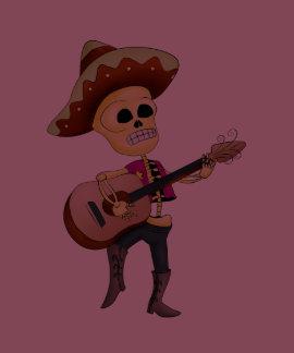Mariachi Male Sugar Skeleton Tshirts