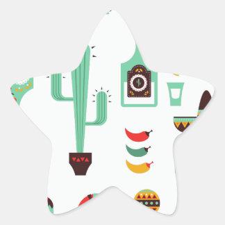 mariachi mexicano pegatina en forma de estrella