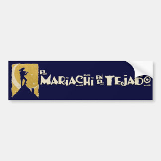 Mariachi on the Roof Car Bumper Sticker