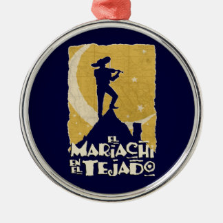 Mariachi on the Roof Metal Ornament
