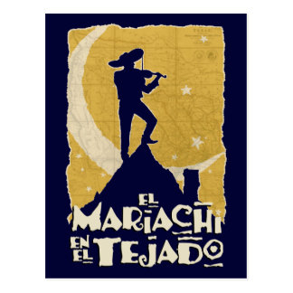 Mariachi on the Roof Postcard